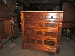 Victorian Marble Top Chest In Walnut photo