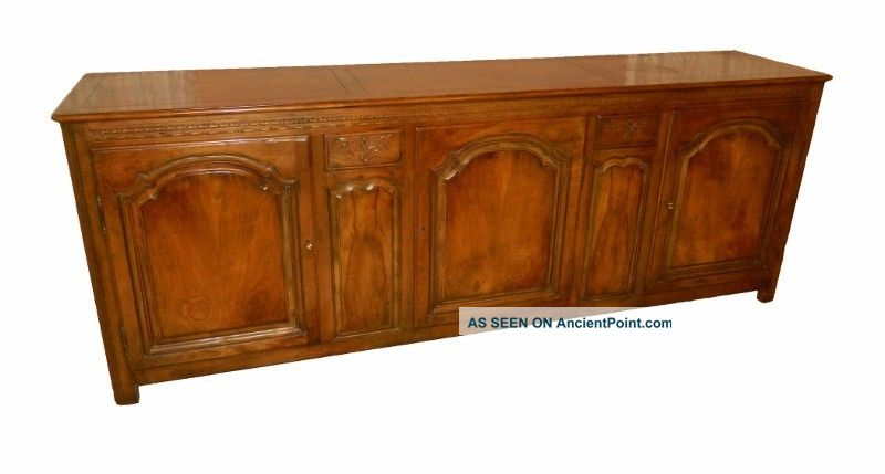 Baker Furniture Sideboard Antique French Country Style Buffet Server Credenza Post-1950 photo