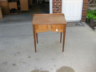 Antique 2 Drawer Desk photo