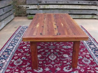 Antique (re - Claimed Wood) L.  Ht.  Pine Reprod.  Table photo