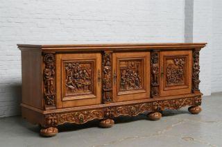 Flemish Bruegel Server In Oak Art In Furniture Styles And Customs Of
