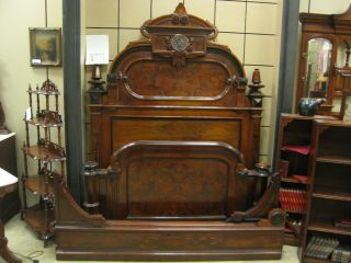 Antique 19th Cent.  Ny Victorian Pottier & Stymus Renaissance Revival Bedroom Set photo
