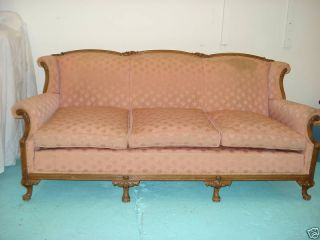 Victorian Full Length Sofa - Wood & Upholstery photo