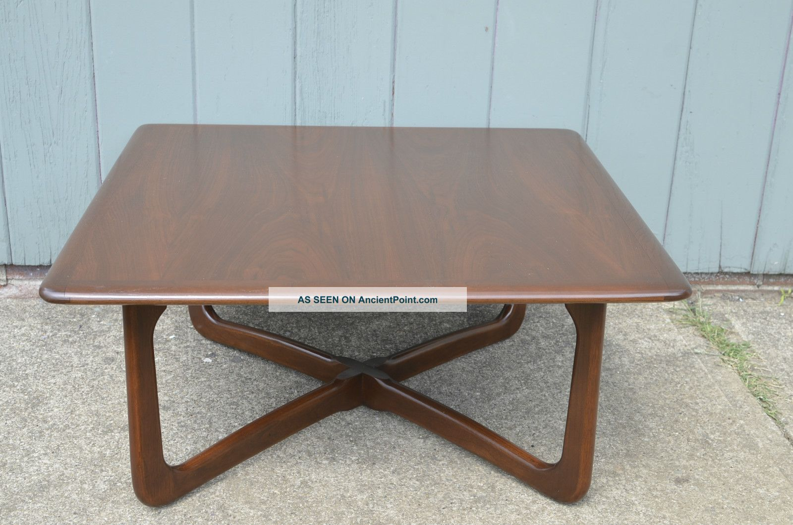 Pro Refinished Lane X Base Coffee Table Mid Century Danish Modern