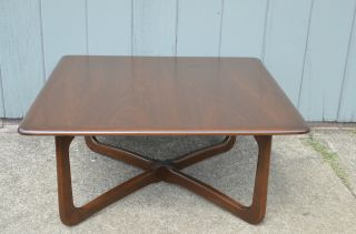 Pro Refinished Lane X - Base Coffee Table Mid Century Danish Modern Vintage Eames photo