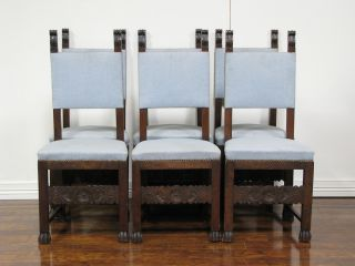 It3396 : Set Of Six Antique Italian Side Chairs photo