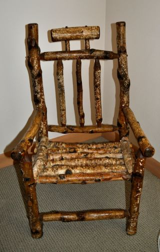 Authentic Antique Child ' S Adirondack Chair photo