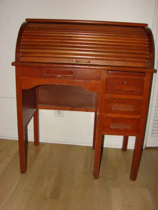C - Rolltop Desk Small Size/1948 Socal /original/nice photo