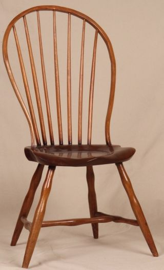 Antique 19th Century American Hoop Back Windsor Side Chair,  Period Construction photo