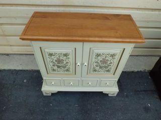 Ethan Allen Decorated Stenciled Cabinet Server Chest 14 9216 Photo