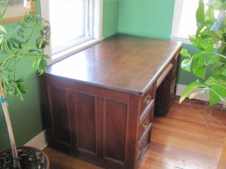 Fine 1890 ' S Mahogany Partner ' S Desk W/history Partners photo