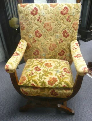 Antique French Marquetry Chair - Inlay - Unique Style - Circa: 1880 - photo