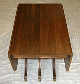Black Walnut Duncan Phyfe Style Drop Leaf Dining Table W 2 Extra Leafs photo
