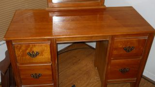 Antique Vanity Orig.  Glass Mirror & Hardware.  Local Pickup Only Pls. photo