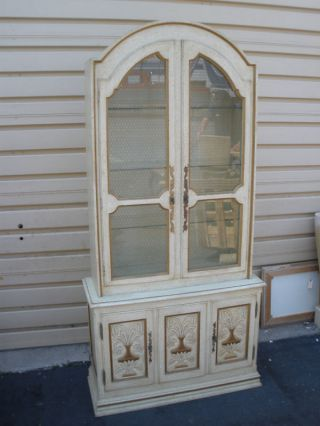 48134 Drexel ? Curio China Cabinet Urn Design Vintage photo