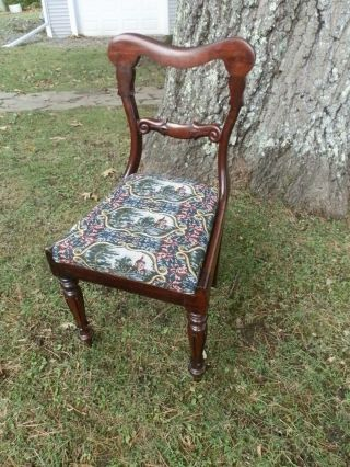 Drop Dead Gorgeous Victorian Side Chair W/carved Back And Legs photo