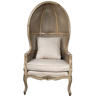 Elegant Chic Shabby Balloon Linen Parchment Chair,  38 ' L X 58.  5  Tall.  2 Left photo