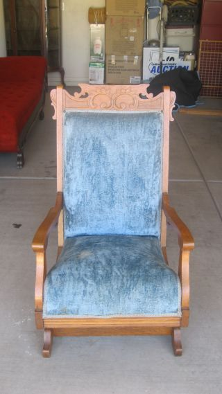 Antique Eastlake Platform Rocking Chair photo