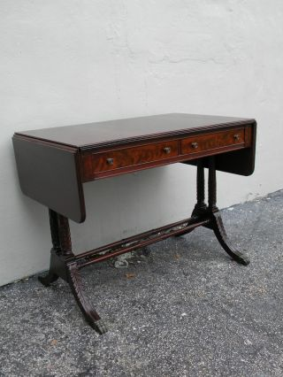 Flame Mahogany Drop - Leaf Writing Desk By Imperial 2379 photo