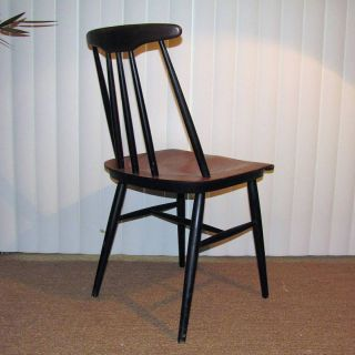 Mid Century Danish Modern Tapiovaara Side Dining Chair photo