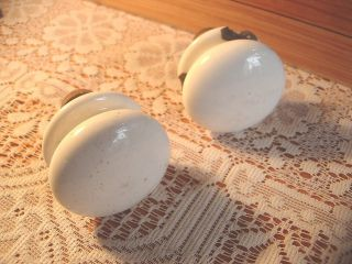 Two Antique Chest Of Drawer Porcelain Knobs photo