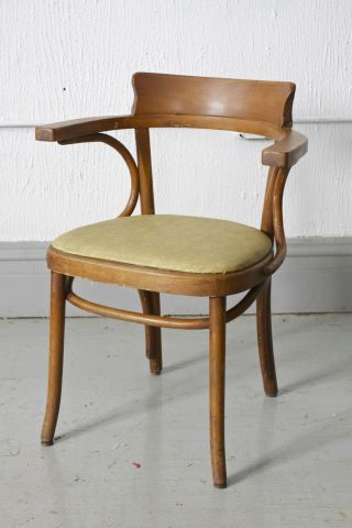 (4) Vintage / Antique Thonet Bentwood Arm Chairs photo