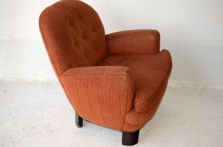 Early Mid Century Modern Gilbert Rohde ? Club Lounge Chair Nail Head Vintage photo