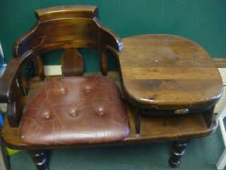 Unique & Rare Telephone Seat With Table Draw photo