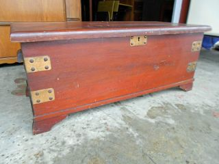 Late 1800 ' S/early 1900 ' S Pine Blanket Chest photo