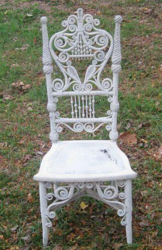Antigue Wicker Chair photo