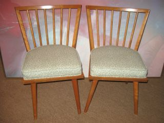 2 Mid Century Russel Wright Conant Ball Dining Chairs photo