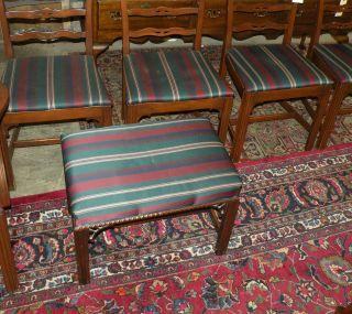 Hickory Chair Company Upholstered Mahogany Bench Footstool photo