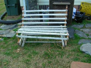 Antique Gliding Bench Art Deco Yard Or Garden For Decoration Only Not Use photo
