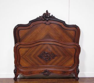11734 - 2 : Antique French Louis Xv Rosewood Bed photo