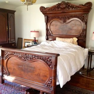 Antique Victorian Style Bed (lincoln) Full Size Plus Queen Conversion Kit photo
