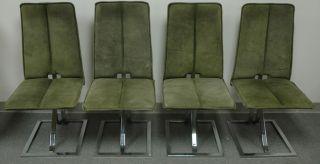 4 Vintage Retro Modern Milo Baughman ? Chairs Eames Era photo