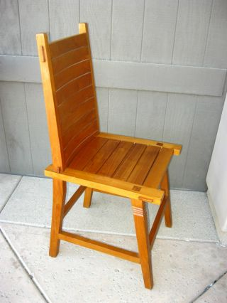 Vintage Teak Accent Chair Computer Or Side Chair photo
