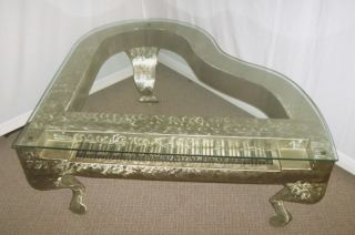 Cobert Collins Sculpted Metal Grand Piano Coffee Table Unique Mid Century Modern photo