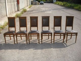 6 Italian Antique Dining Room Chairs 11it080c photo