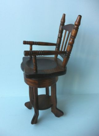 Vintage Musical Miniature Solid Dark Wood Decorative Chair photo