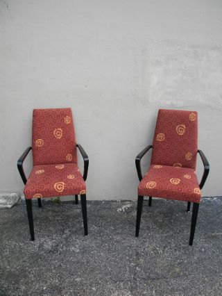 Pair Of Mid Century Painted Side By Side Chairs 1164 photo