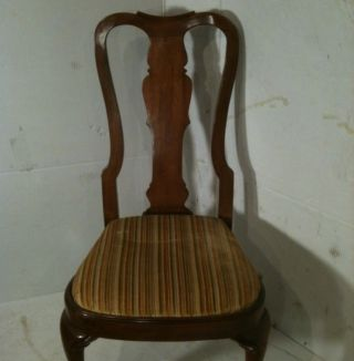 Antique Solid Cherry Side Chair,  Sturdy,  &reupholstered,  Ship To Conus photo