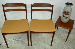Modern Danish Design - T ' Wo X Rosewood Chairs - Eames,  Panton Era photo