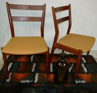 Modern Danish Design - Two X Teak Chairs - 3 - Eames,  Wegner Era photo