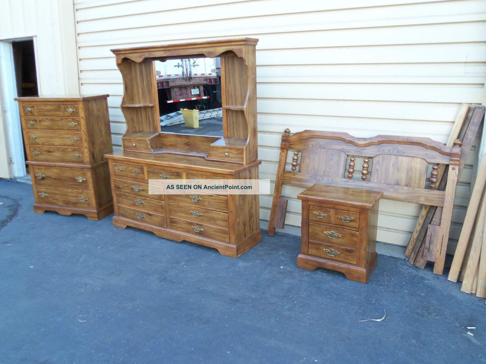 49760 Lea Furniture Bedroom Set Dresser Headboard Nightstand Chest ...