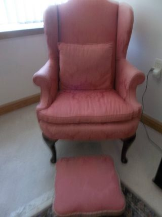 Vintage / Antique - Pink Uphostered Chair (41