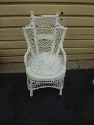 50843 Antique Victorian Wicker Side Chair photo