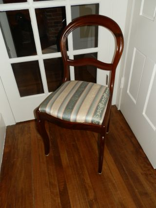 Gorgeous Antique Victorian Balloon Back Chair