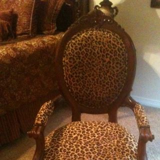 Antique Leopard Chair Rare Find photo