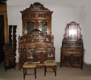 French Breton Bedroom 9 Pieces The Best Carved Detail photo
